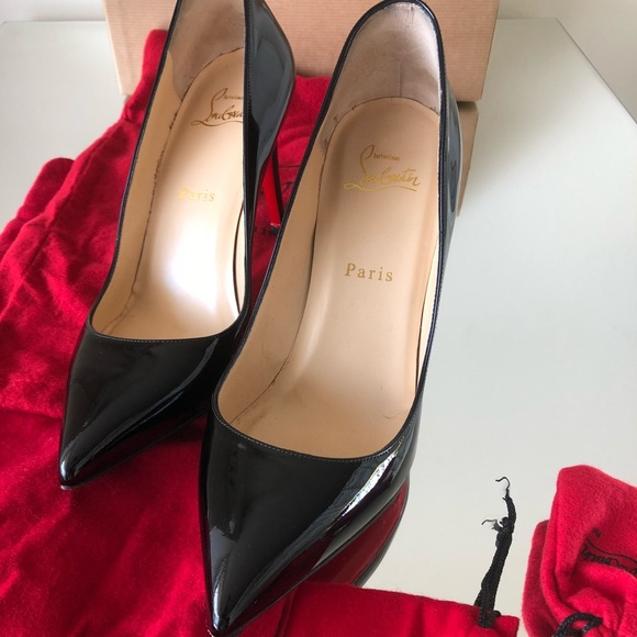 official photos 5546f 2e63b Christian Louboutin Pigalle patent leather pumps